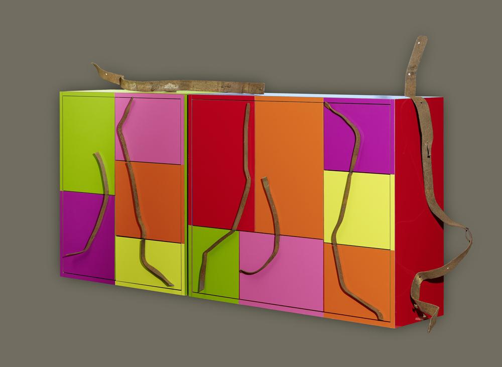 Philippe Bresson 2011, meuble, dim. 2 mx 0,40 mx 0,90 m