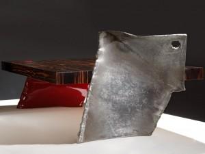 Philippe Bresson 2012, table basse L'aile de raie, dim. L : 1,45 l : 0,75 h : 0,32 m