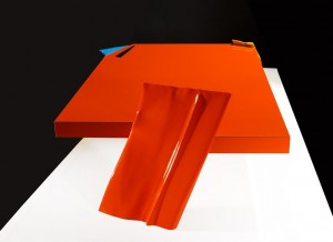 Philippe Bresson 2012, La table orange, dim. L : 1,63 l : 0,97 h : 0,30 m