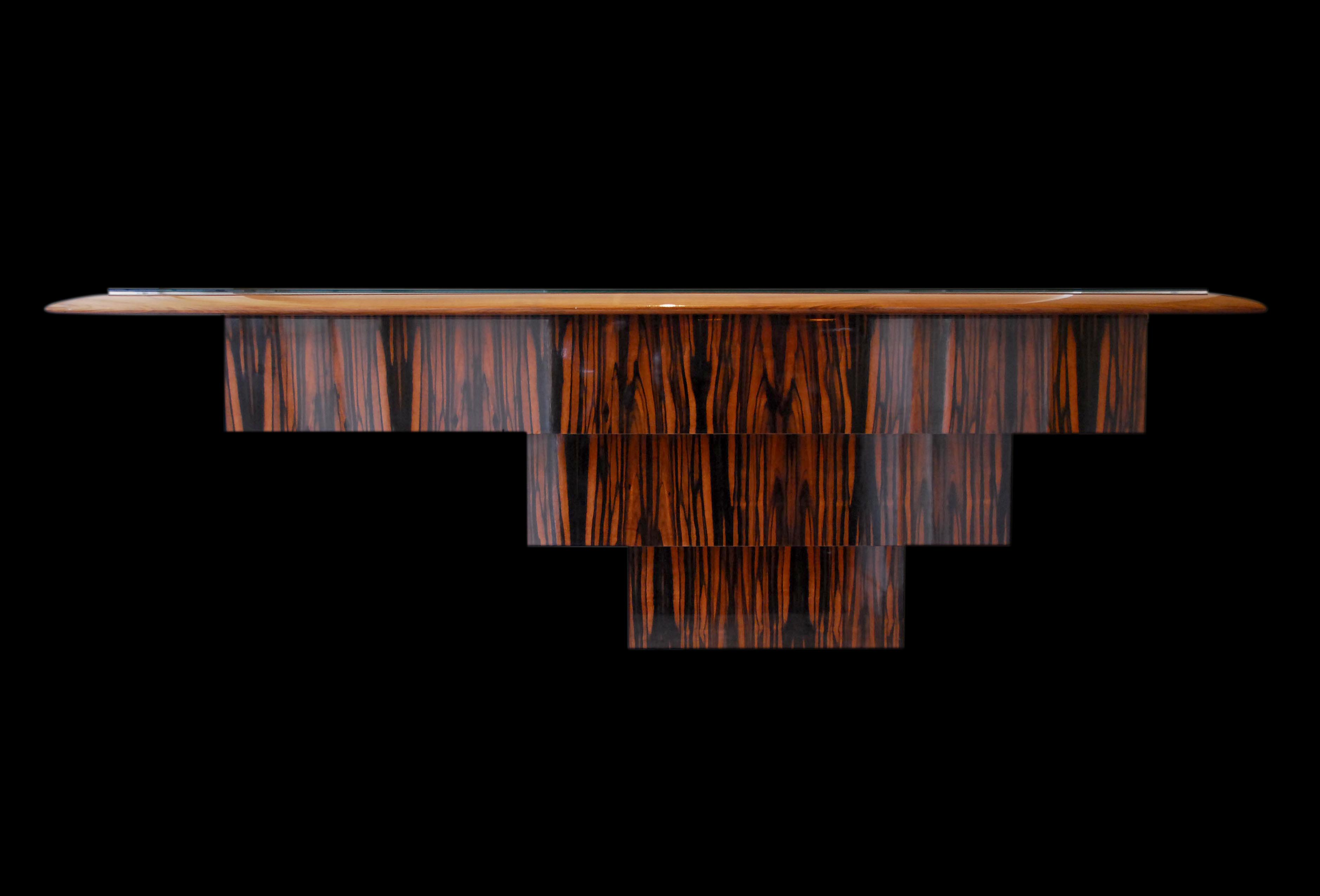 Philippe Bresson 2005, console pour le restaurant L'Ane rouge, dim. 2 m x 0,75 m x 0,45 m