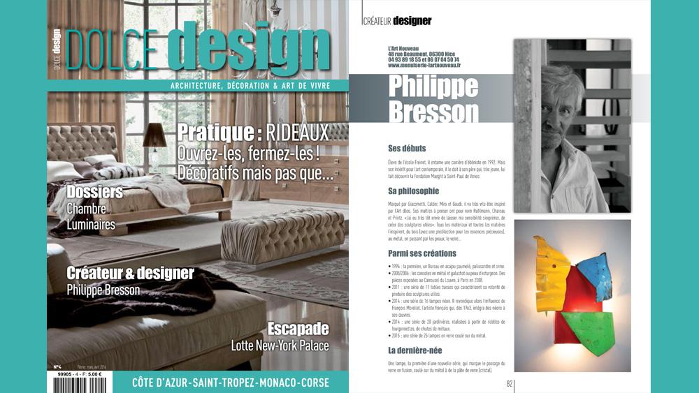 Philippe Bresson dans Dolce Design
