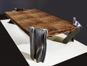 Philippe Bresson 2012, table basse Les 4 IPN, dim. L : 1,80 l : 0,80 h : 0,30 m