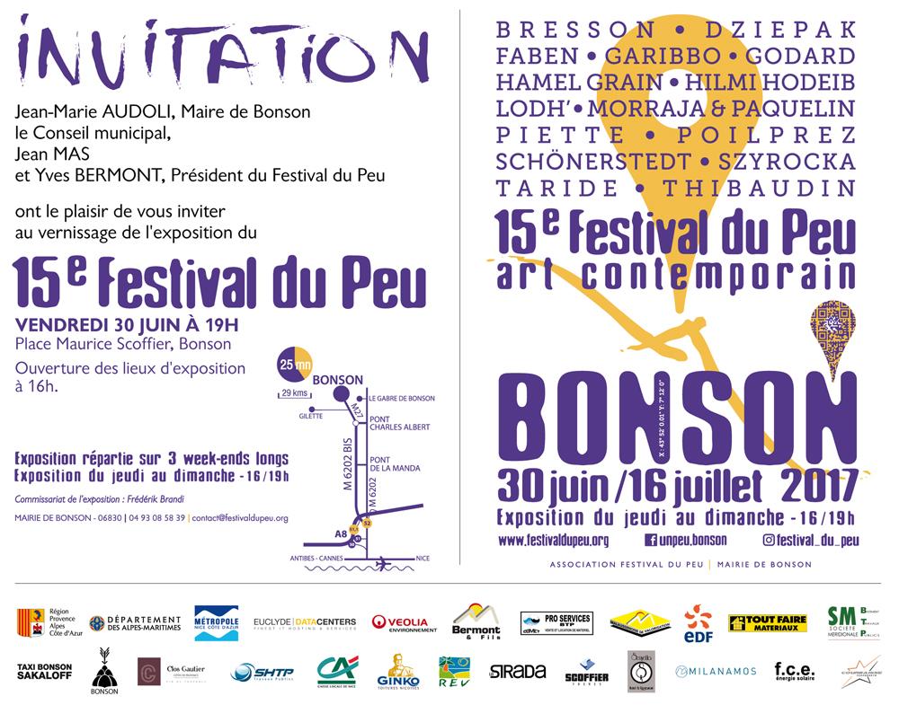 Affiche Festival du Peu de Bonson 2017
