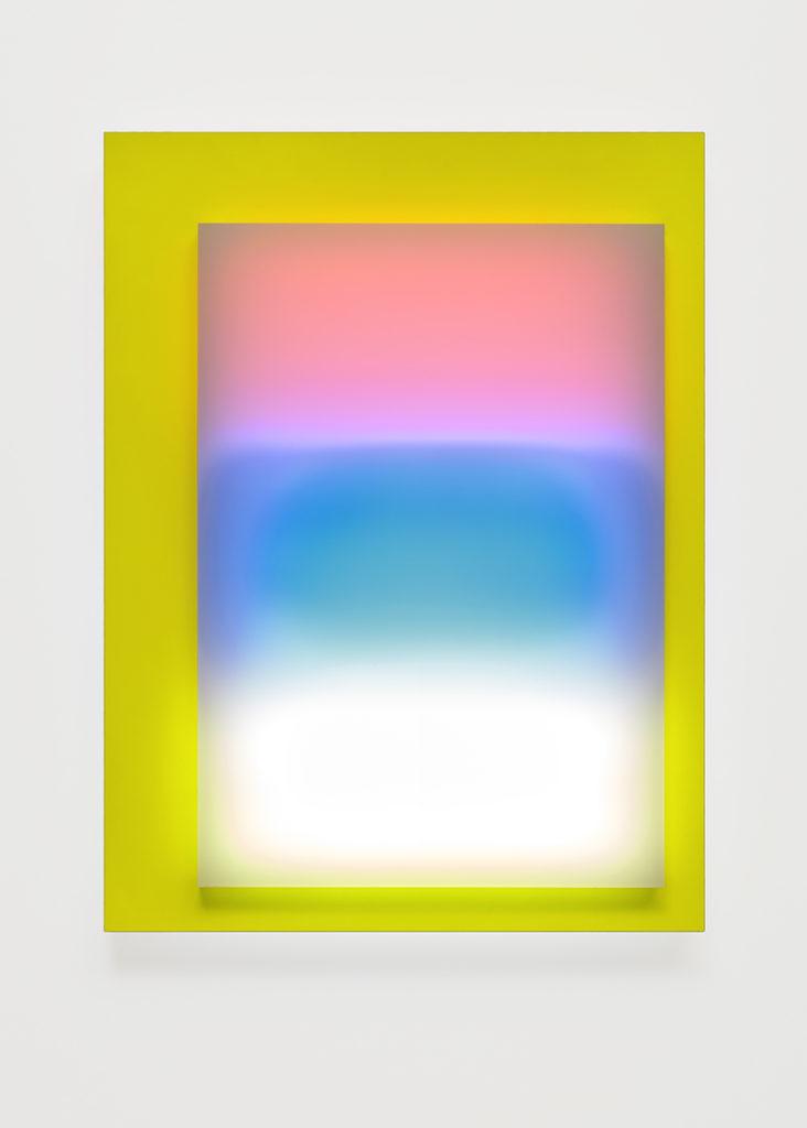 Abstrait lumineux I, 2015 - Plexiglas, bois stratifié, LED 60 x 45 x 10 cm